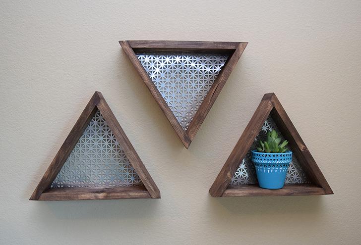 7 DIY Geometrix Shelves Simphome com