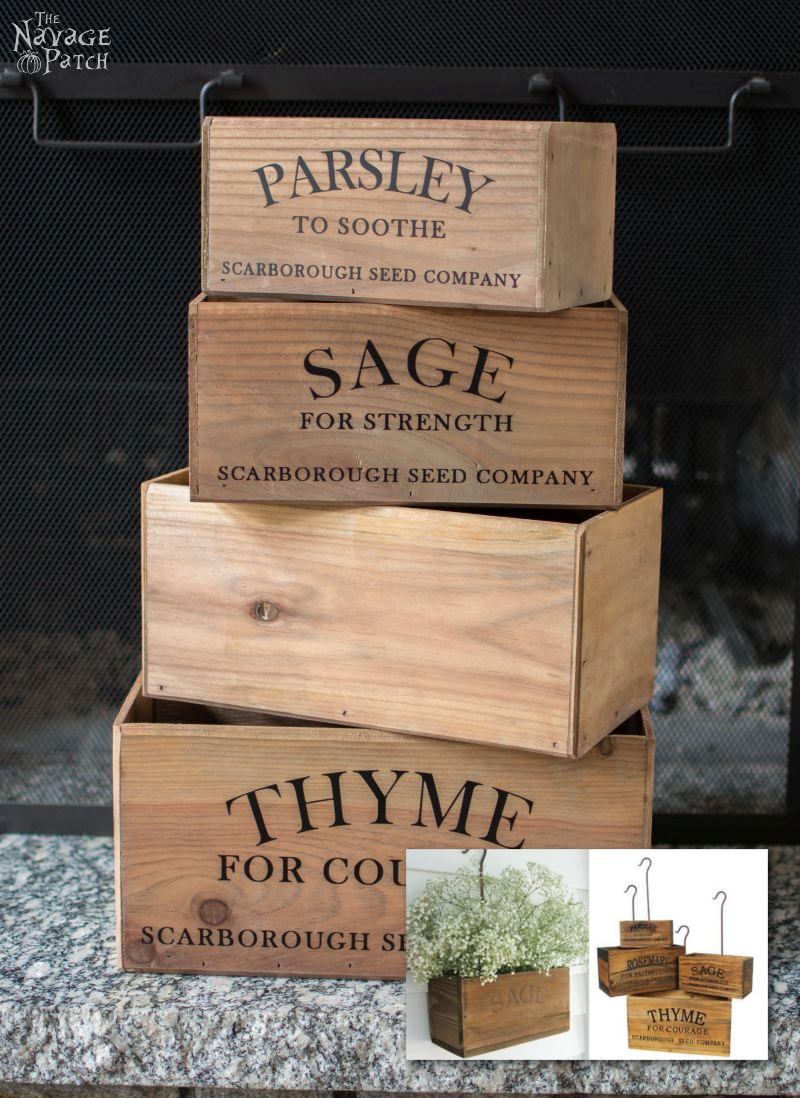 DIY Nesting Herb Boxes via simphome