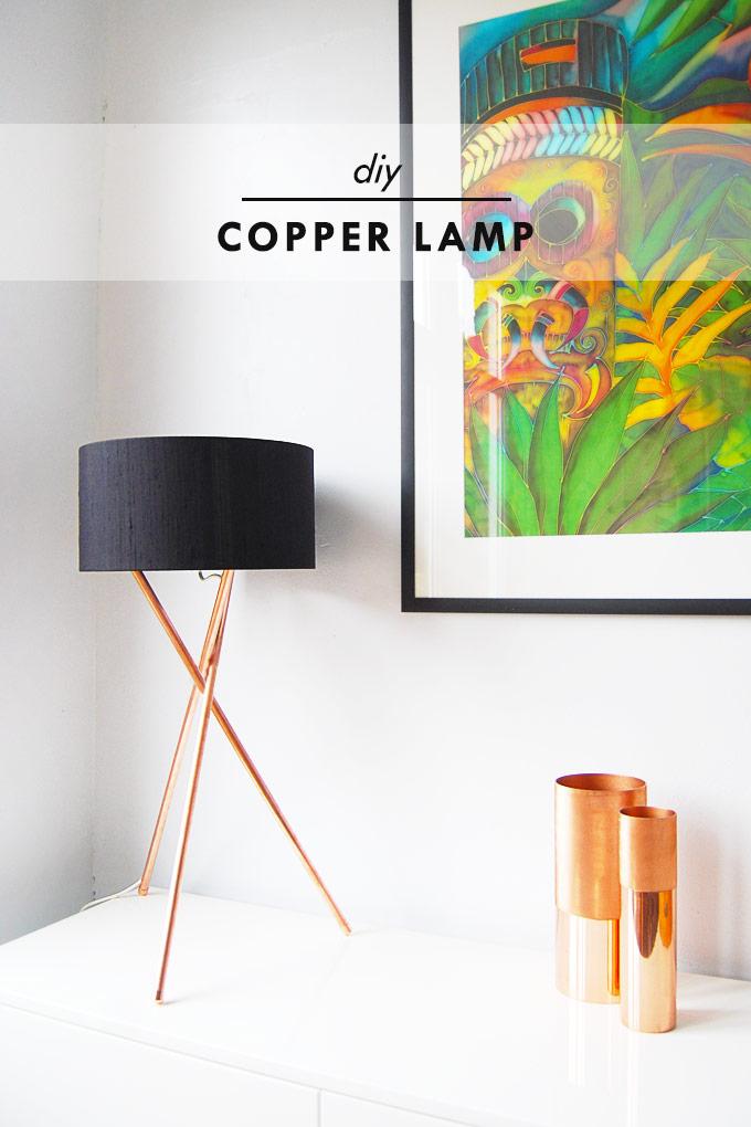 1 Copper Lamp Simphome com 1