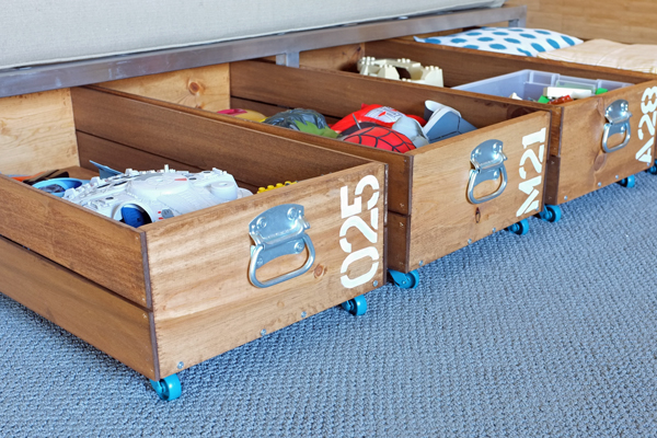 13 Making Your Own Rolling Storage Crates simphome com