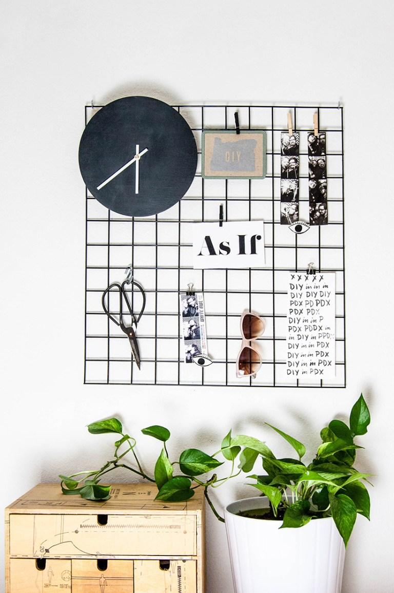 17 DIY METAL WALL GRID Simphome com