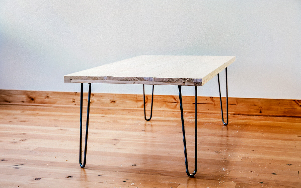 6 Coffee Table with Hairpin Leg Simphome com