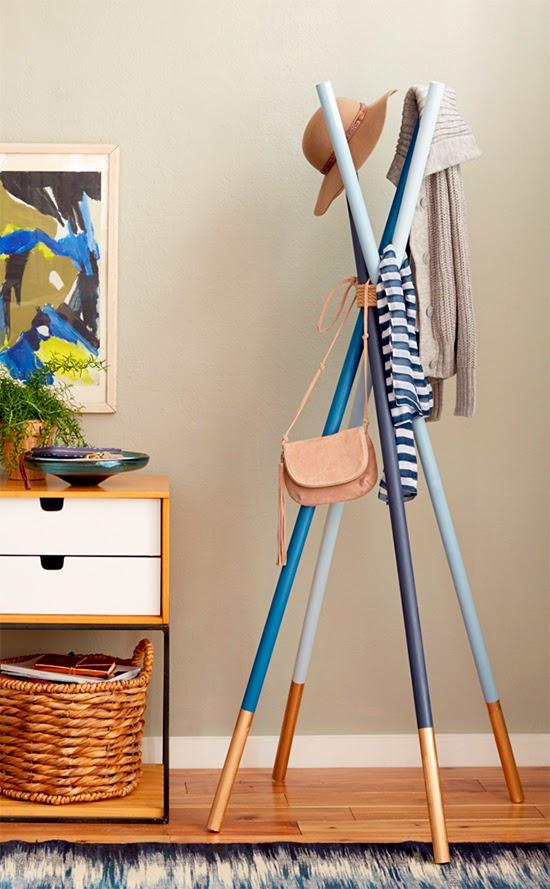 6 Recycled Broom Cool Hanging Rack Simphome com