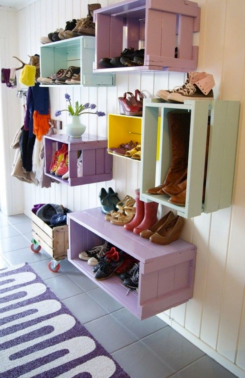 6 Stackable Crates Mudroom Storage Simphome com