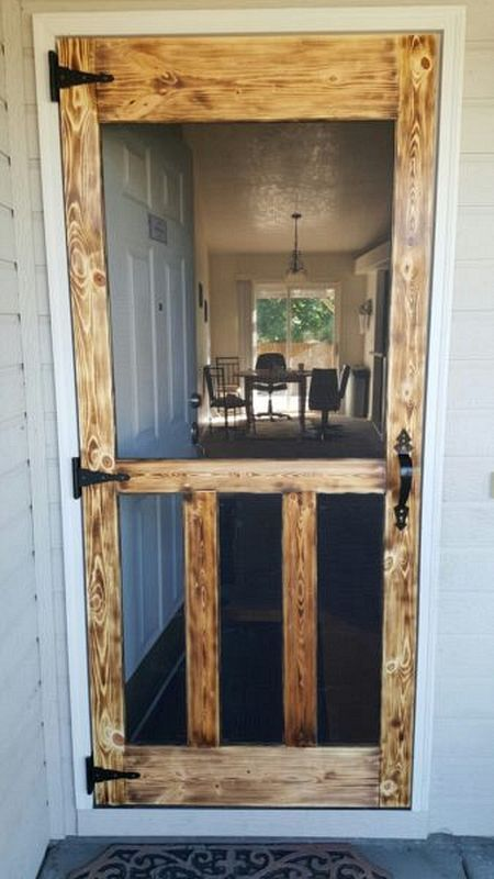 7 Rustic door brown simphome com