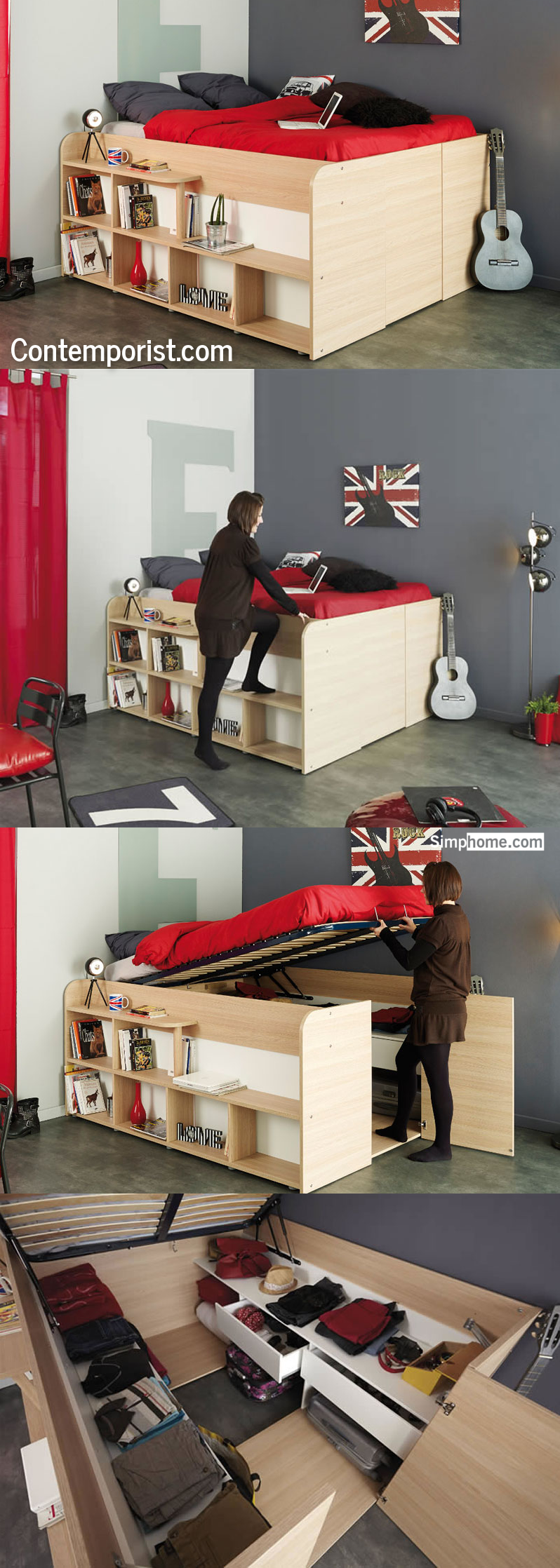 Bed and closet combination Simphome com 8