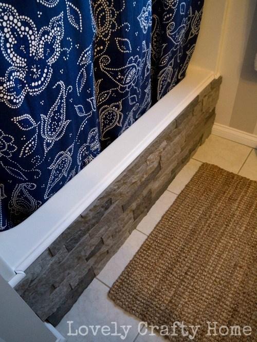 Faux Stone bathroom wall makeover Simphome com 4
