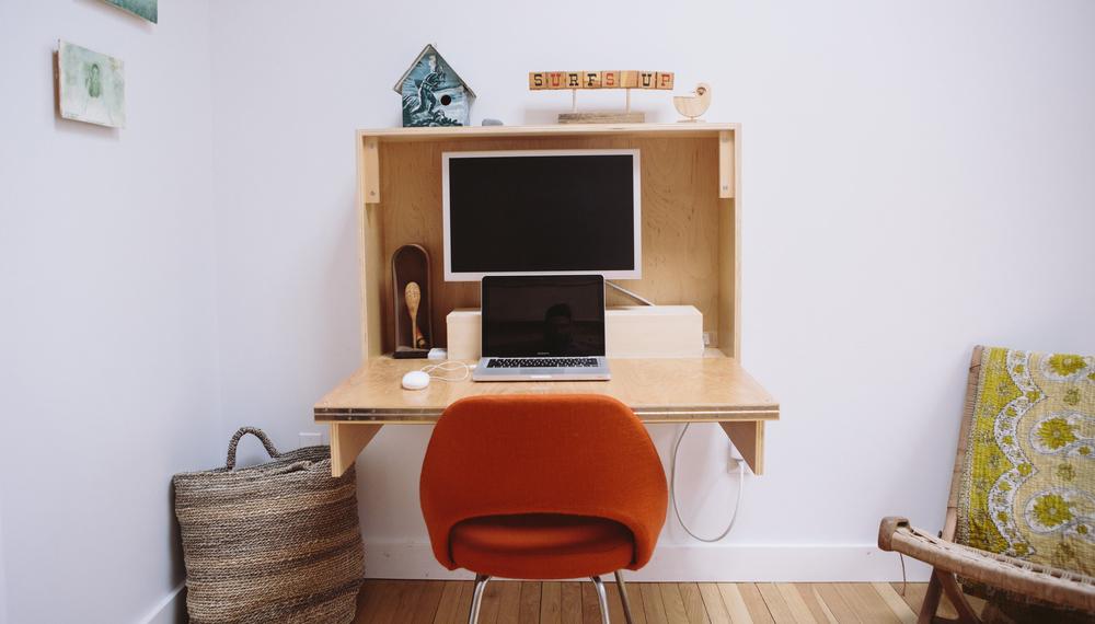 How to craft fold up wall desk Simphome com 8