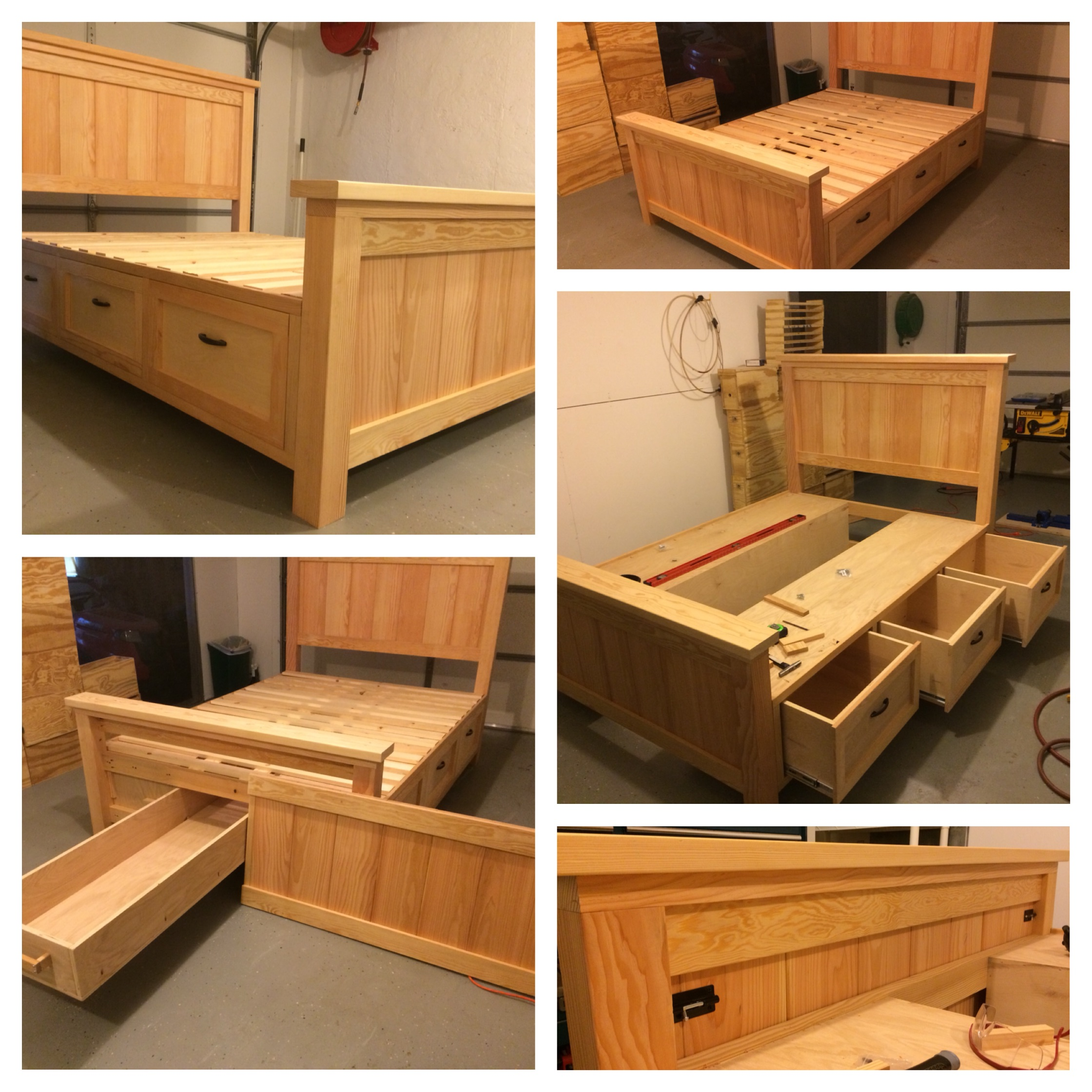 Storage bed with drawers 9 Simphome com