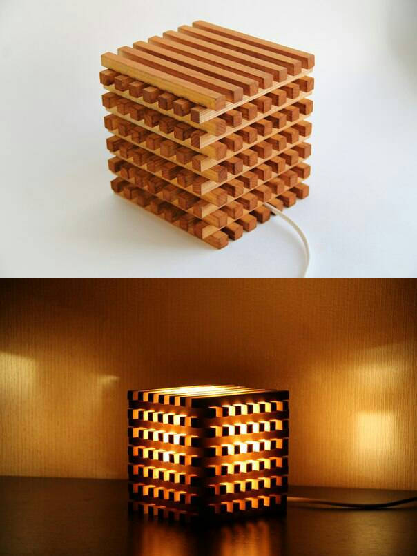The Wooden Light Cube Simphome com 10