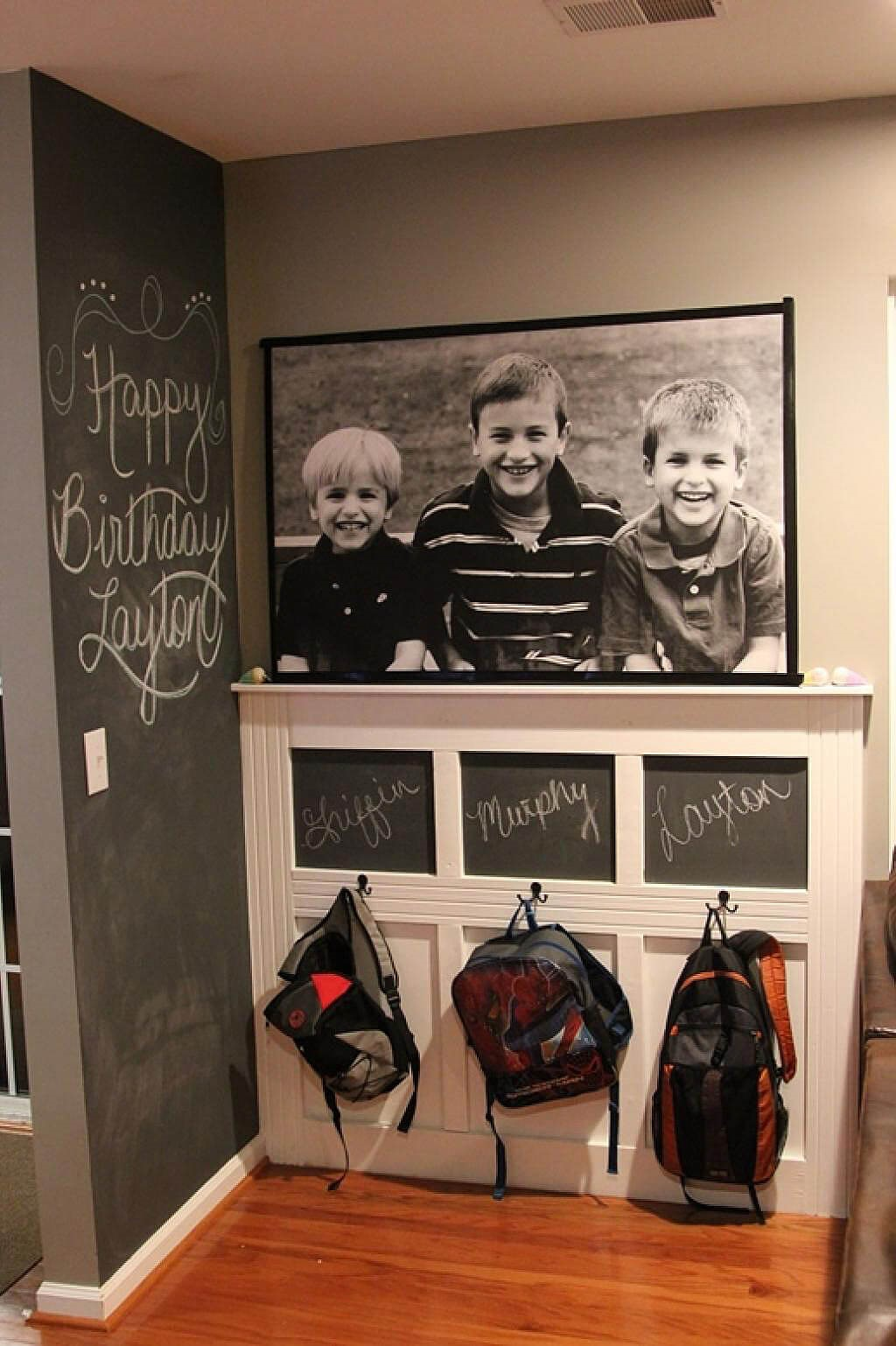1 Chalkboard Wallpaper for An Impressive Mudroom Simphome com