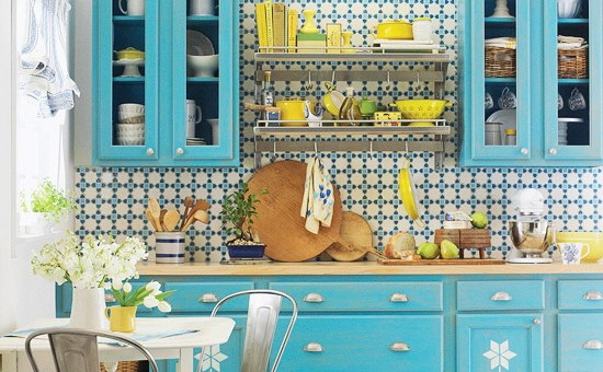 2 Light Blue Vintage Kitchen Simphome com