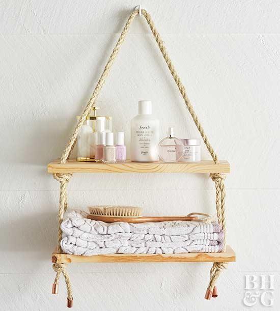 2 Hanging Rope Shelf Simphome com