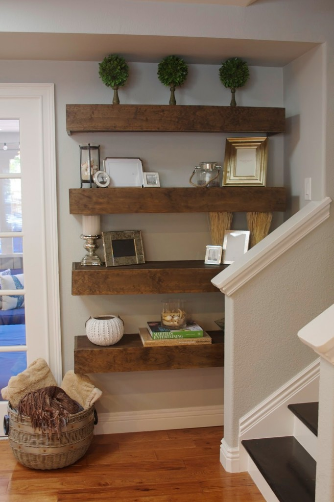 20 Simplyorganized DIY FLOATING SHELVE Simphome com