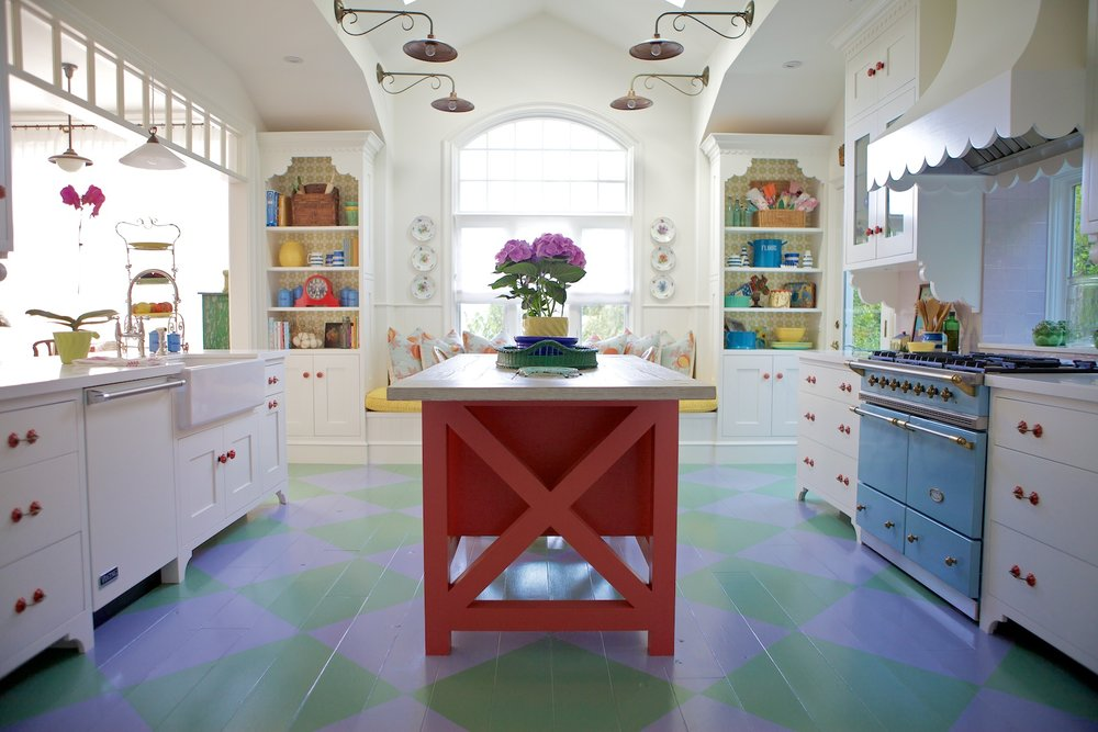 3 Colorful Modern Farmhouse Kitchen via Simphome com