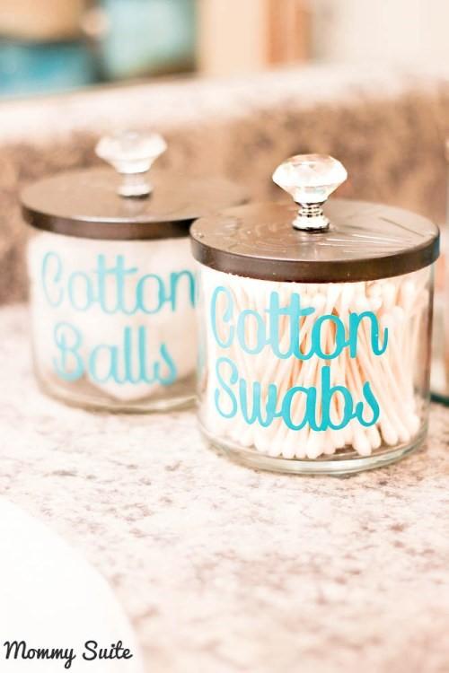4 Cotton Balls and Swabs Container idea Simphome com
