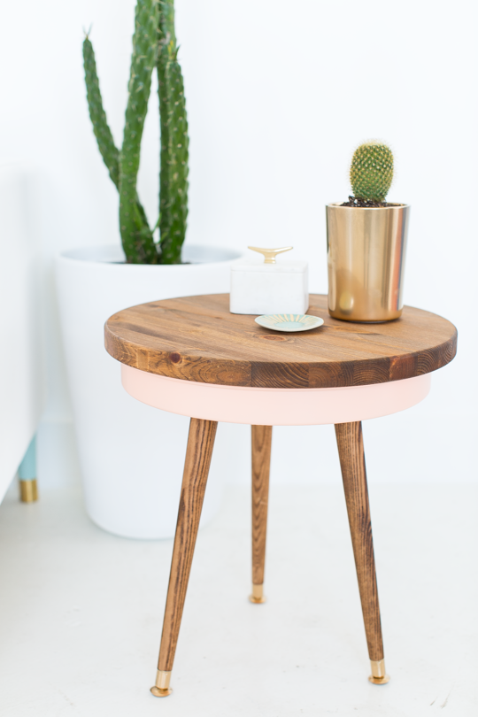 4 Mid century side table hack by sugar and cloth Simphome com