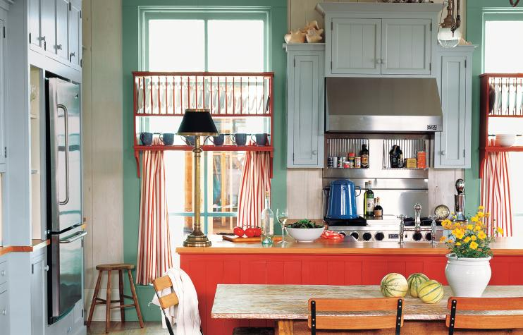 5 Vintage and Eclectic style kitchen via Simphome com