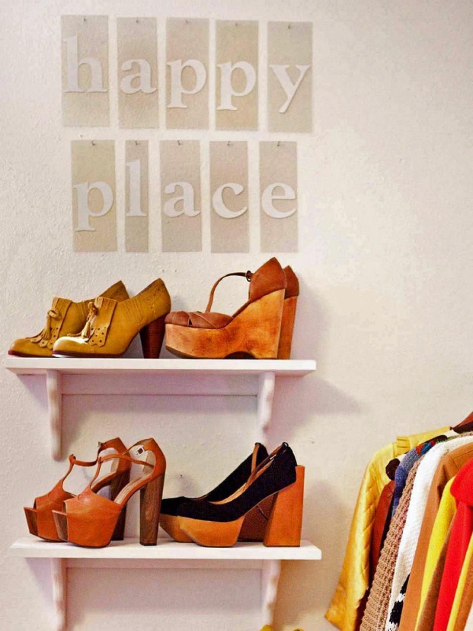 5 Wall Mounted Shoe Racks from HGTV Simphome com