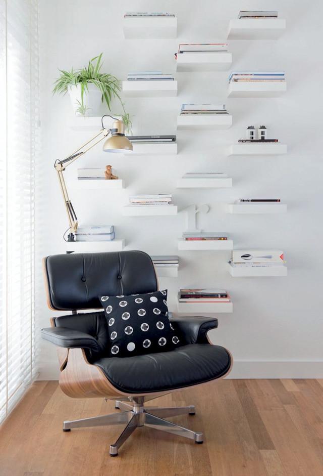 6 wall of bookshelves Simphome com
