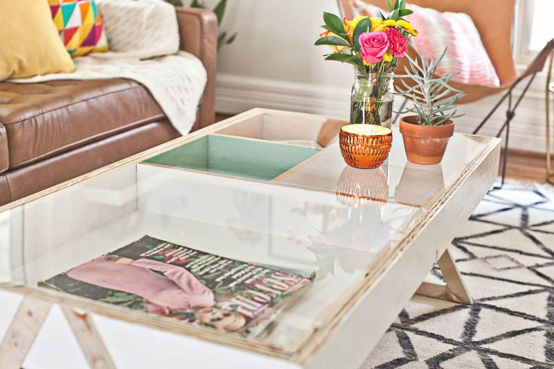 7 STORAGE COFFEE TABLE WITH ACRYLIC TO Simphome com