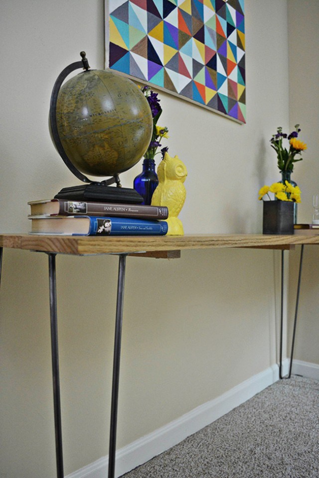 03 DIY Hairpin Leg Entryway Table Simphome com