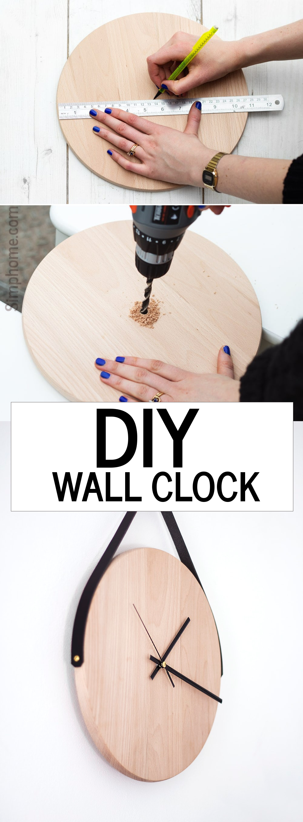 07 DIY Wall clock by the lovely drawer simphome com
