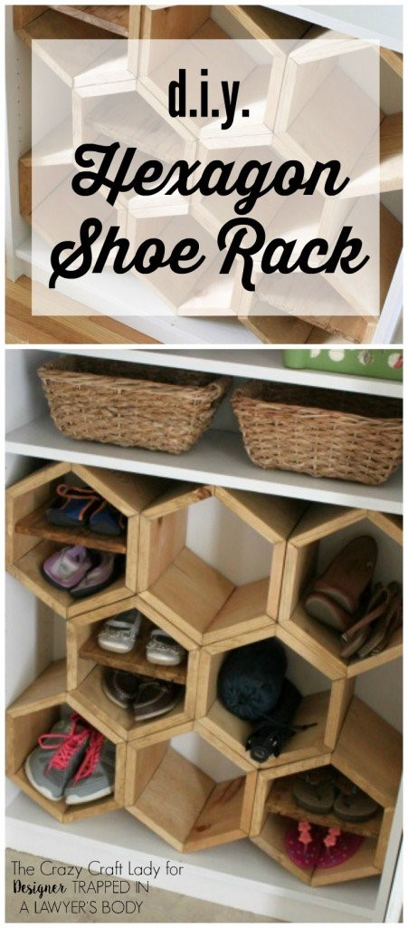 1 DIY Hexagon Shoe Rack Simphome com