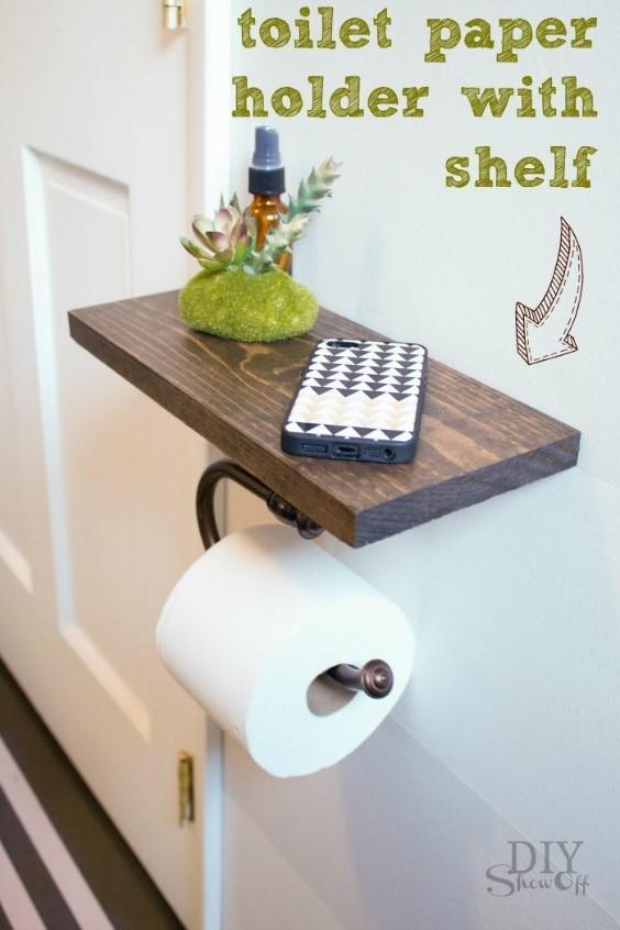 10 Toilet Paper Holder with Shelf Simphome com