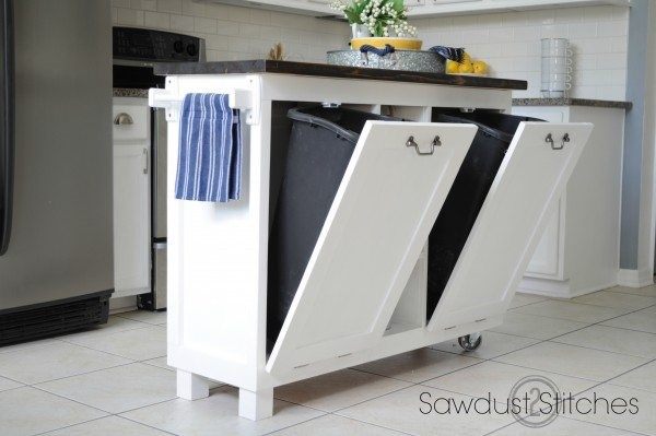 10 Transforming a cabinet into a kitchen island Simphome com
