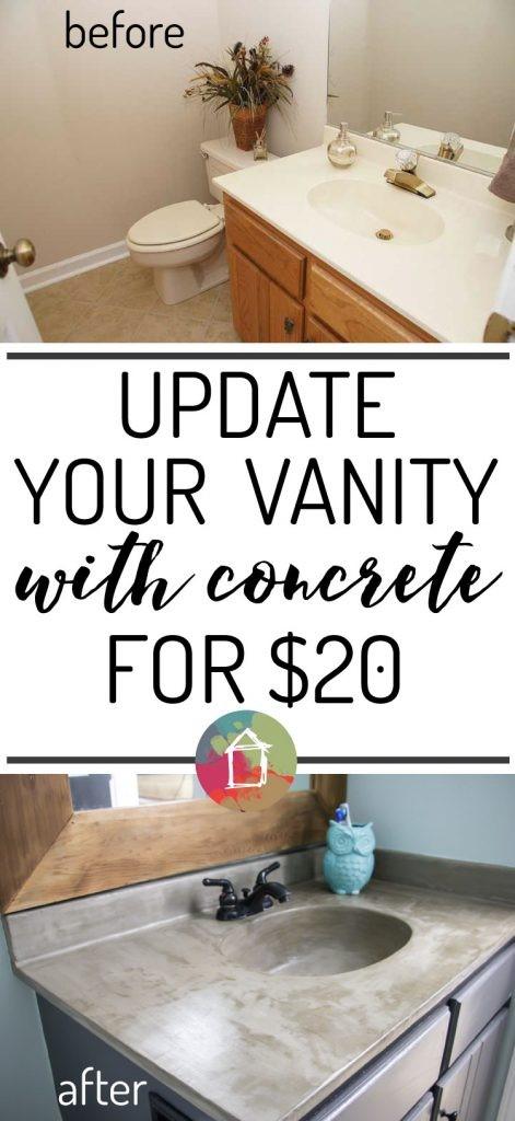 2 Concrete overlaid Vanity idea Simphome com