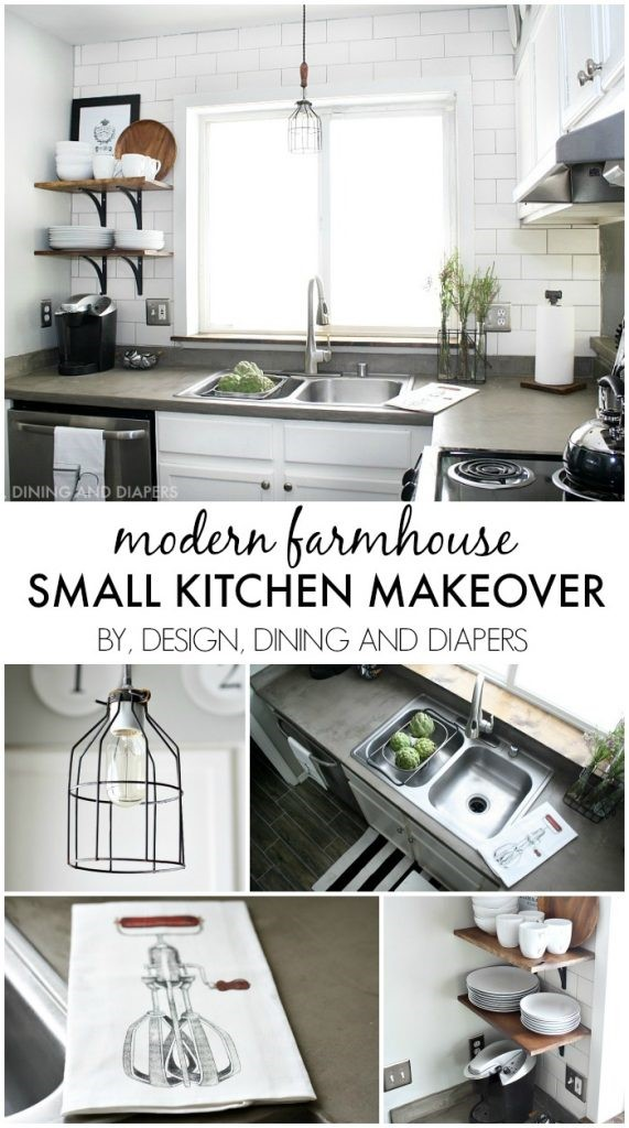 2 Modern Farmhouse Small Kitchen Makeover Simphome com