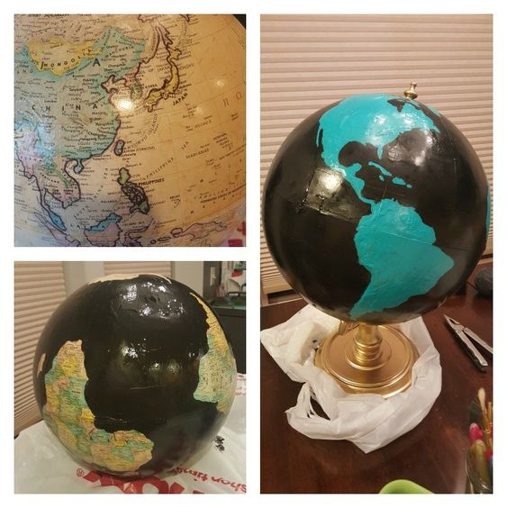 20 UPCYCLED PAINTED THRIFT STORE GLOBE Simphome com
