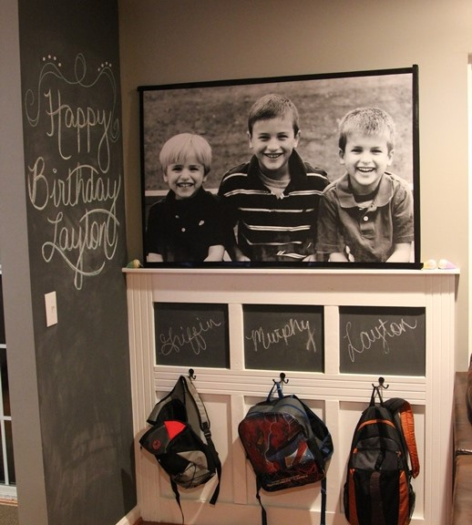 3 Mudroom with Chalkboard Finish Simphome com