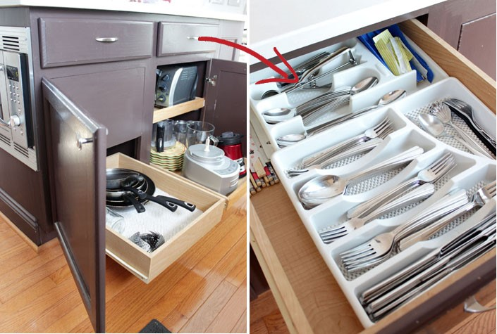 5 Ditch the Cabinet's Doors and Reorganize Your Drawer Simphome com