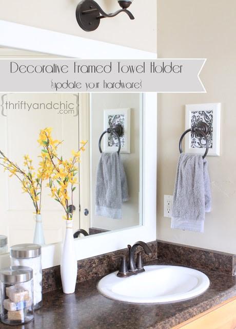 7 Decorative Framed Towel Holder Simphome com