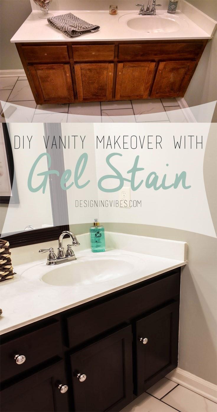 7 Renew Your Bathroom Vanity with Gel Stain Simphome com