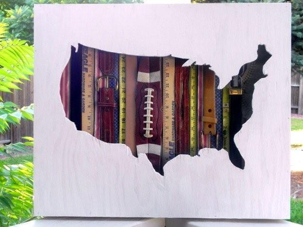 7 Vintage America Wall Art Map Simphome com