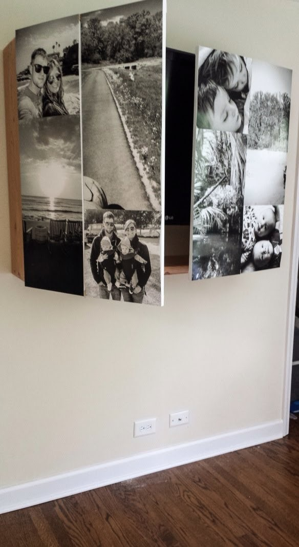 8 DIY Wall Mounted TV Cabinet with Photographs Simphome com