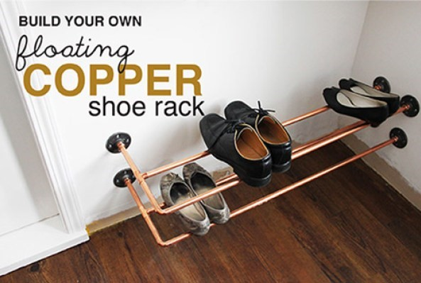 8 Floating Copper Shoe Rack Simphome com