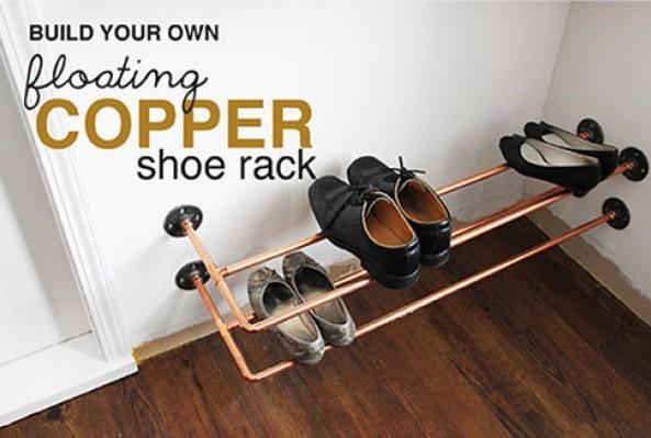 8 Floating Copper Shoe Rack Simphome com