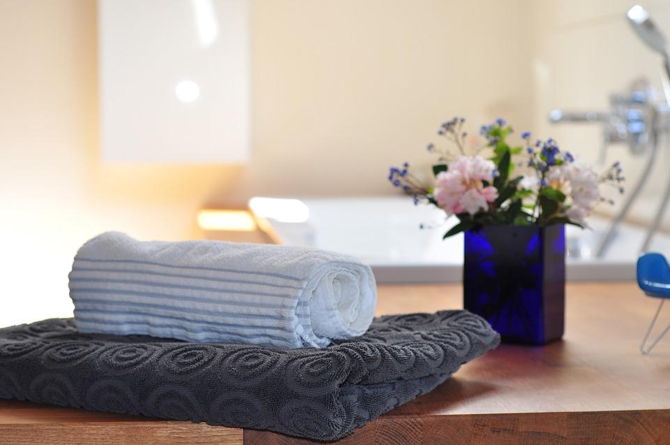 Tub Spa Flowers Bathtub Interior Towels Bathroom Simphome com