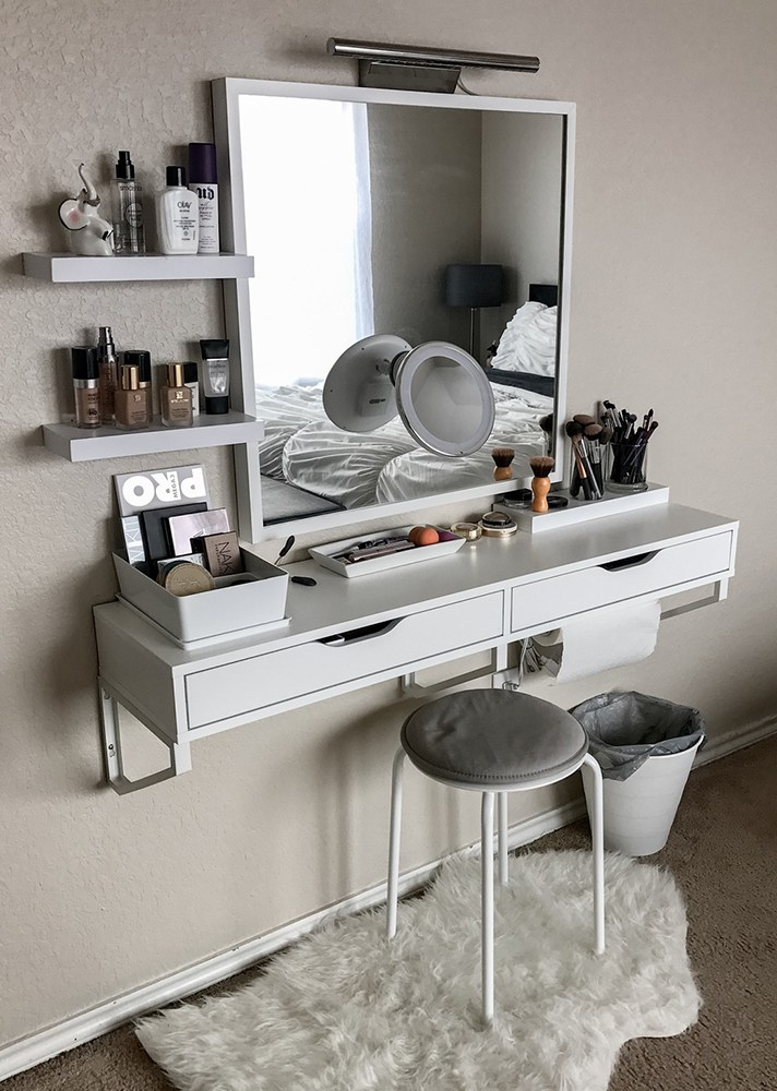 Use floating vanity