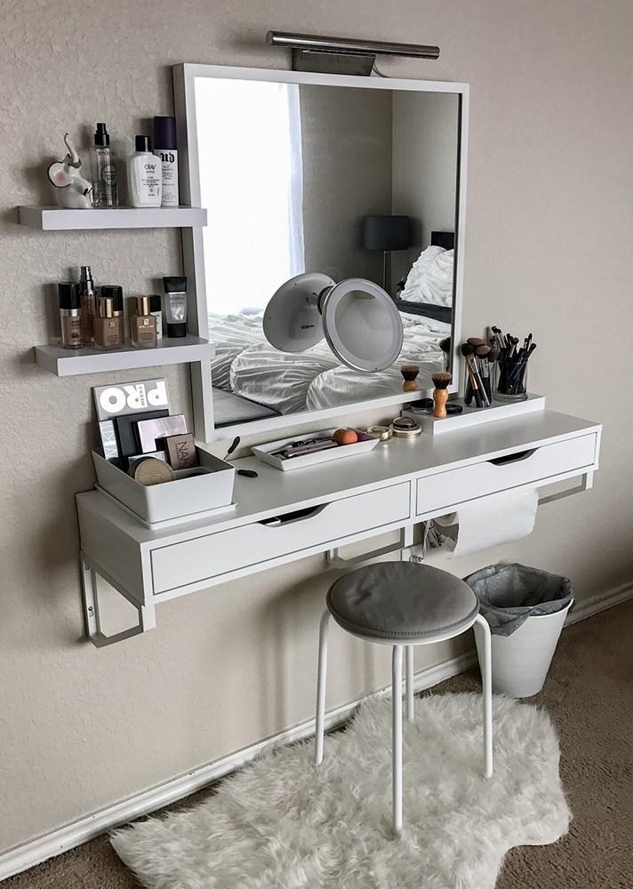Use floating vanity