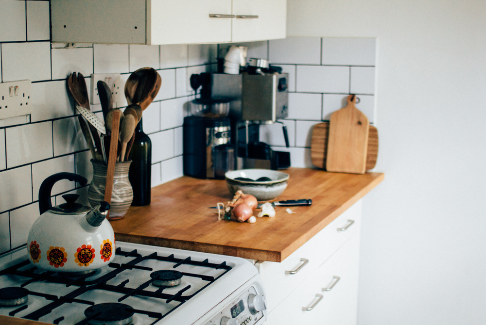 1 Butcher Block Countertop and White Subway Tiles Simphome