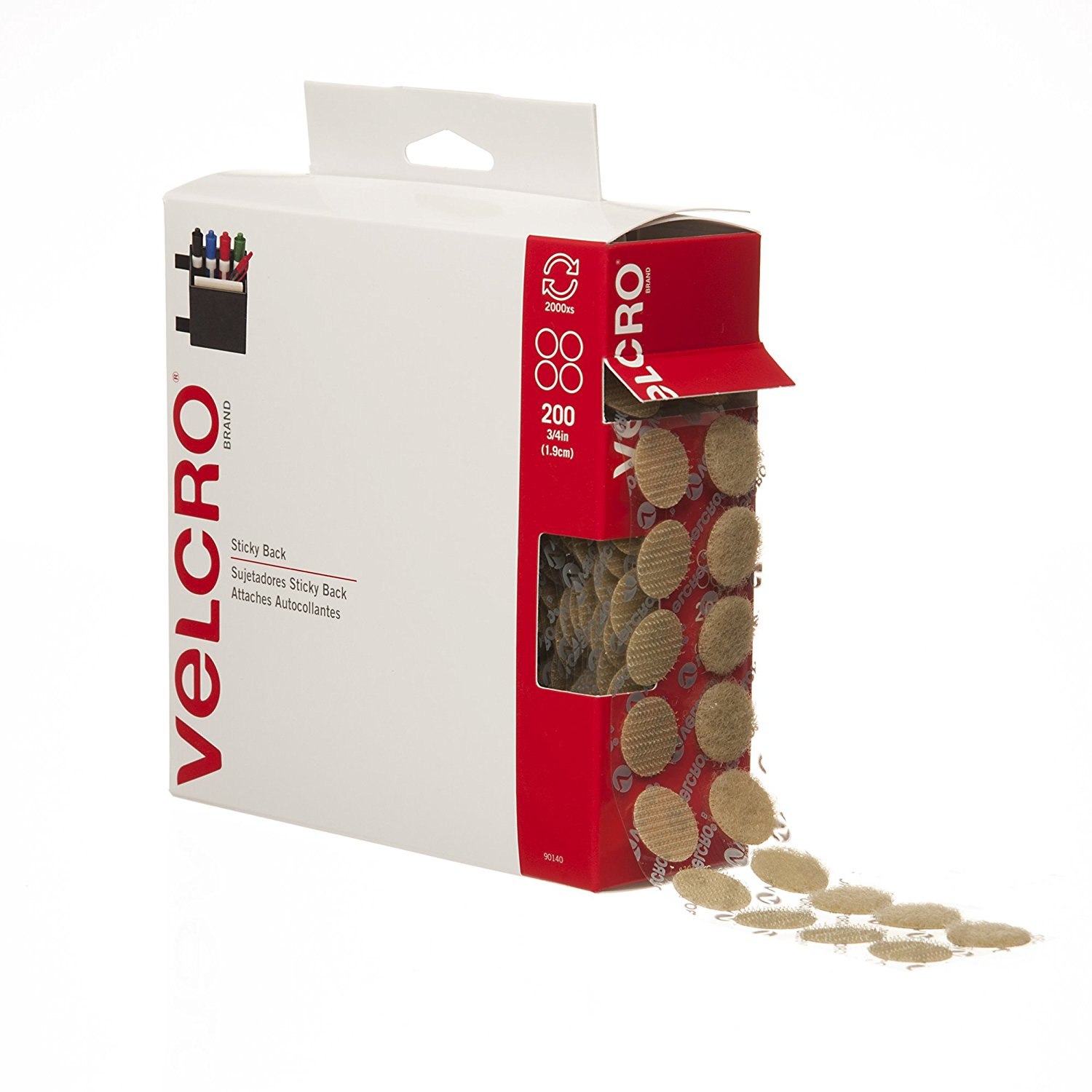 VELCRO Brand - Sticky Back - 3/4' Coins, 200 Sets (1)