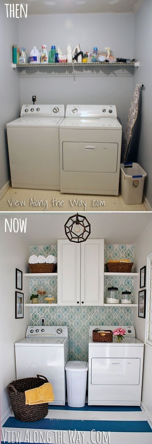11 Laundry Room Inspiration Redecorate a laundry room on a budget by errehomedesigns win Simphome