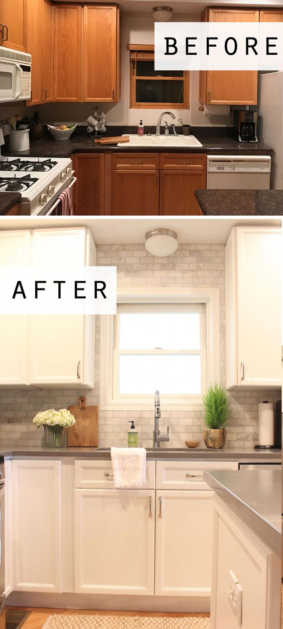 110 Cottage style before and after kitchen makeover Simphome