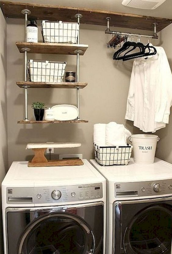 19 Fantastic farmhouse laundry room decor ideas by Towerdecor Simphome