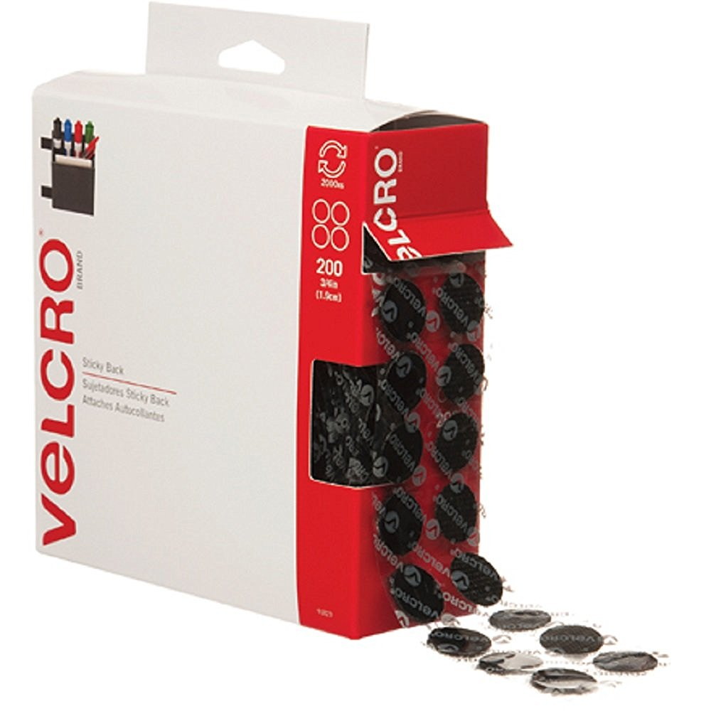 VELCRO Brand - Sticky Back - 3/4' Coins, 200 Sets (2)